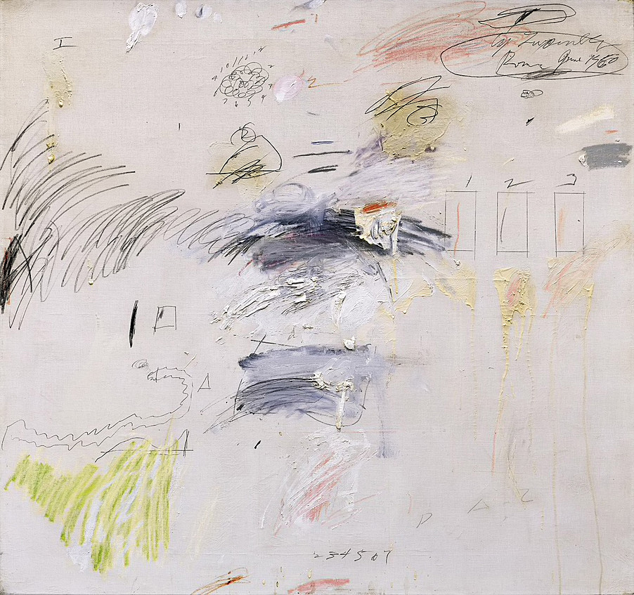 Cy Twombly: Untitled (Rome, June 1960; 95,7×101,8 cm)